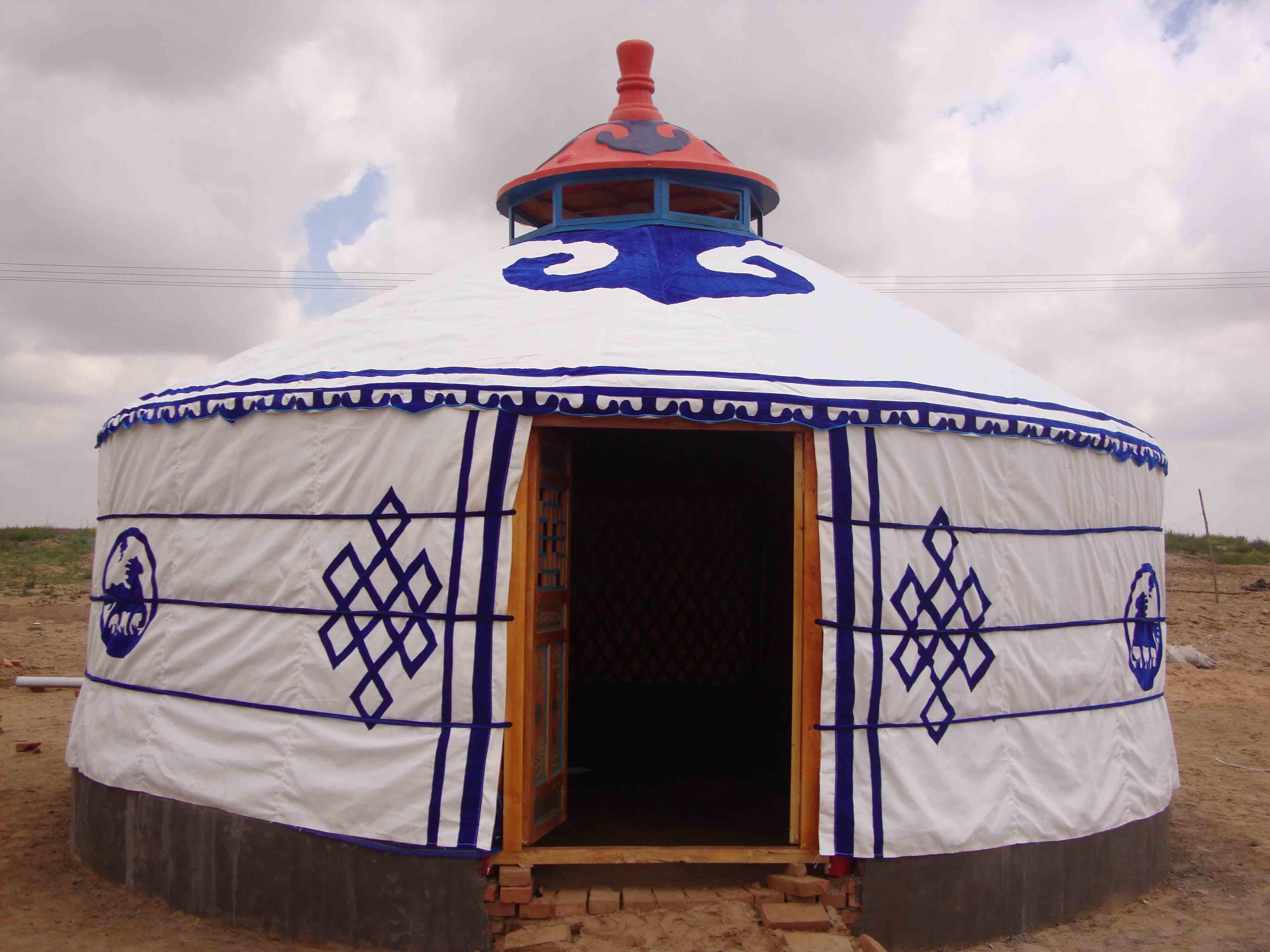 鄂尔多斯传统蒙古包